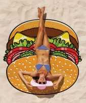 Grote hamburger strandlaken 150 cm