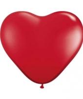 Grote hartjes ballonnen rood