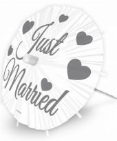 Grote just married ijsparasols 20 cm