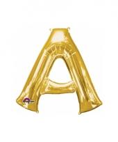 Grote letter ballon goud a 86 cm
