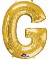 Grote letter ballon goud g 86 cm