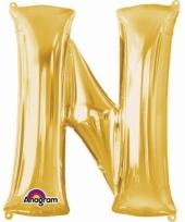 Grote letter ballon goud n 86 cm