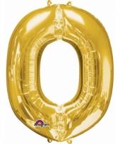 Grote letter ballon goud o 86 cm