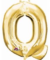 Grote letter ballon goud q 86 cm