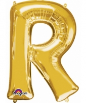Grote letter ballon goud r 86 cm