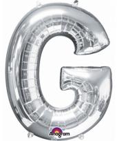 Grote letter ballon zilver g 86 cm