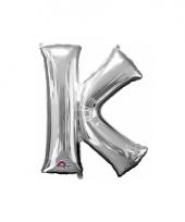 Grote letter ballon zilver k 86 cm