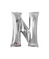 Grote letter ballon zilver n 86 cm