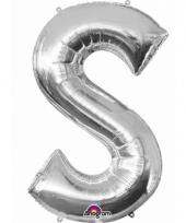 Grote letter ballon zilver s 86 cm