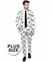 Grote maat luxe pak met stormtrooper print
