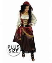 Grote maat piraten outfit voor dames