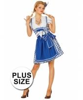 Grote maten beierse jurk blauw