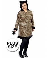 Grote maten dames luipaard kostuum
