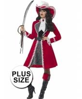 Grote maten dames musketier kostuum