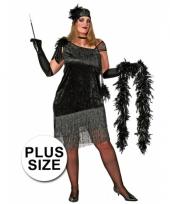 Grote maten jaren 20 jurk voor dames