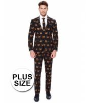 Grote maten luxe pompoen kostuum voor heren