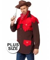 Grote maten sherrif verkleedkleding voor heren