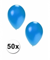 Grote metallic blauwe ballonnen 36 cm