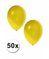 Grote metallic gele ballonnen 36 cm
