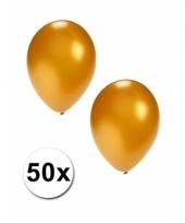 Grote metallic goud kleurige ballonnen 36 cm