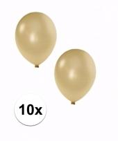 Grote metallic ivoor ballonnen 10x