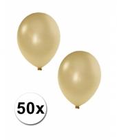 Grote metallic ivoor kleurige ballonnen 36 cm