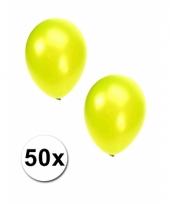 Grote metallic lime ballonnen 36 cm