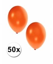 Grote metallic oranje ballonnen 36 cm