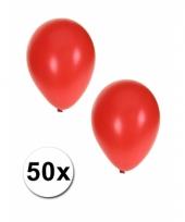 Grote metallic rode ballonnen 36 cm