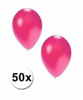 Grote metallic roze ballonnen 36 cm