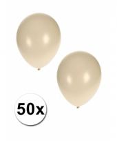 Grote metallic witte ballonnen 36 cm