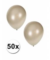 Grote metallic zilver kleurige ballonnen 36 cm