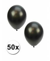 Grote metallic zwarte ballonnen 36 cm