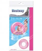 Grote neon zwemband roze 76 cm