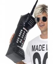 Grote opblaas mobiel zwart