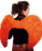Grote oranje vleugels 80 x 56 cm