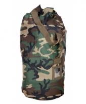 Grote plunjezak camouflage van nylon 90 cm