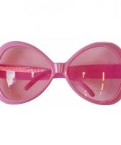 Grote roze zonnebril