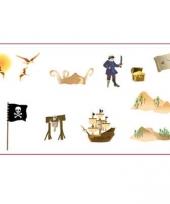 Grote scene setters met piraten stickers