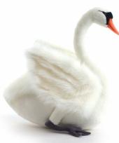 Grote witte zwaan knuffel 45 cm