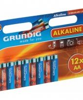 Grundig batterijen aa pakket 12 stuks