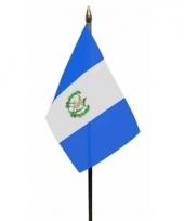 Guatemala luxe zwaaivlaggetje polyester