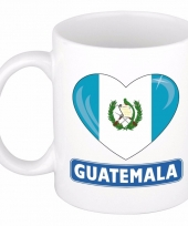 Guatemalaanse vlag hart mok beker 300 ml