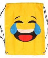 Gymtas geel smiley lol