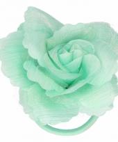 Haarbloem met klem groen