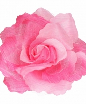 Haarbloem met klem roze