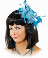 Haarclips blauwe bloem
