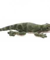 Hagedis groene knuffeldier 35 cm
