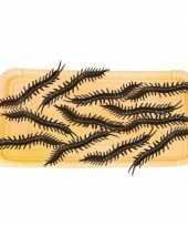 Halloween beestjes zwarte duizendpoten 6 cm