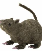 Halloween deco rat grijs 21 cm